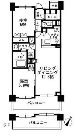 シャンピアグランデ深沢 / 2LDK(62.89㎡) 部屋画像1