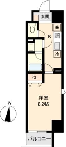 パークフラッツ新栄 / Aタイプ 部屋画像1