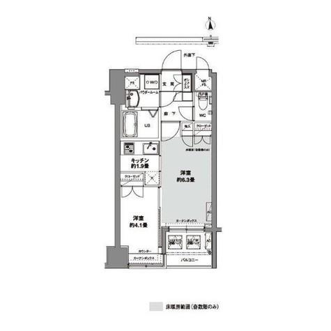 コンフォリア芝公園 / 1階 部屋画像1
