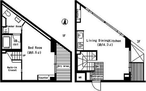 ベルファース三宿 / A6タイプ 部屋画像1