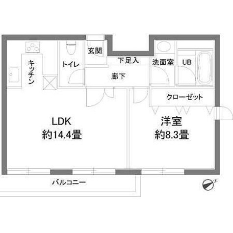 カスタリア西麻布霞町(旧ニューシティレジデンス西麻布) / 1LDK(50.69㎡) 部屋画像1