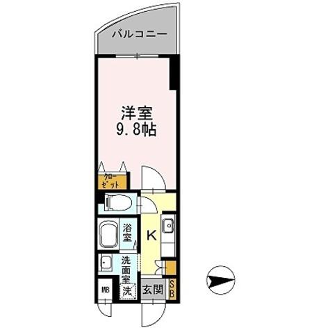 カスタリア新梅田 / 1K(30.6㎡) 部屋画像1