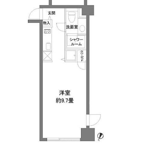 カスタリア水天宮(旧ニューシティレジデンス日本橋イースト) / 1K(27.59㎡) 部屋画像1