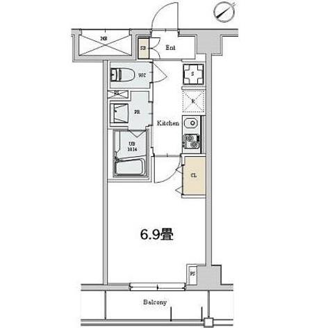 カスタリア本駒込 / 1K(25.28㎡) 部屋画像1