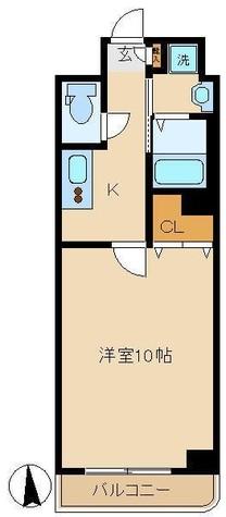 クオーレ旗の台 / 4階 部屋画像1