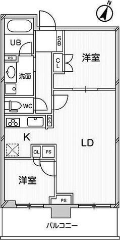 ドゥーエ大宮 / 2LDK(52.16㎡) 部屋画像1