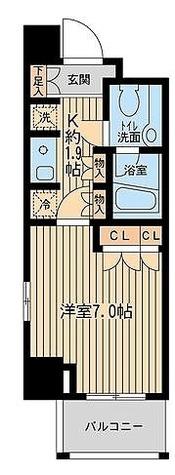 エコロジー東陽町プロセンチュリー / 1K(23.71㎡) 部屋画像1