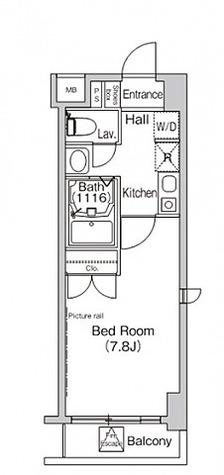プライムアーバン葛西イースト / 1K(24.08㎡) 部屋画像1