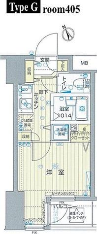 フォレシティ六本木 / 1K(20.06㎡) 部屋画像1