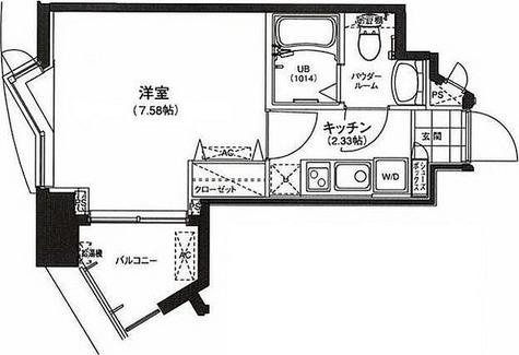 サウンドおしあげ / 1K(22.23㎡) 部屋画像1