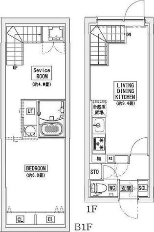 リーガランド神楽坂(LEGALAND KAGURAZAKA) / Cmタイプ(51.03㎡) 部屋画像1