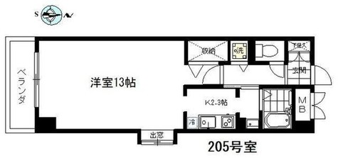 エムワン洗足 / 205 部屋画像1