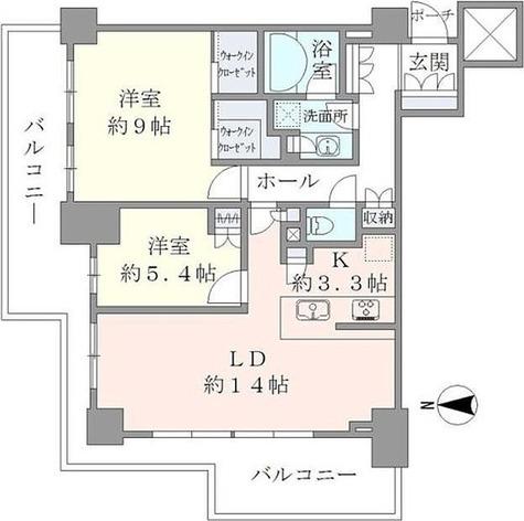 ブリリアタワー川崎(Brillia Tower KAWASAKI) / 2702 部屋画像1