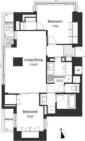 アパートメンツ南麻布Ⅱ / 1階 部屋画像1