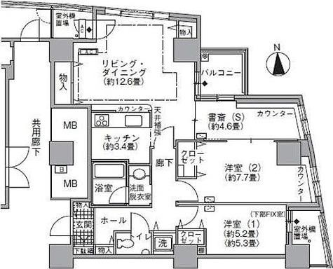 ラ・トゥール汐留 / 2SLDK(85.09㎡) 部屋画像1