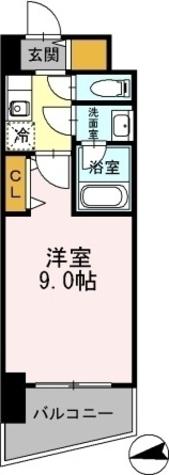 カスタリアタワー肥後橋 / 1K(27.52㎡) 部屋画像1