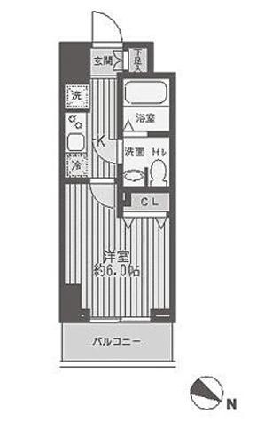 レジディア蒲田 / 1K(21.4㎡) 部屋画像1