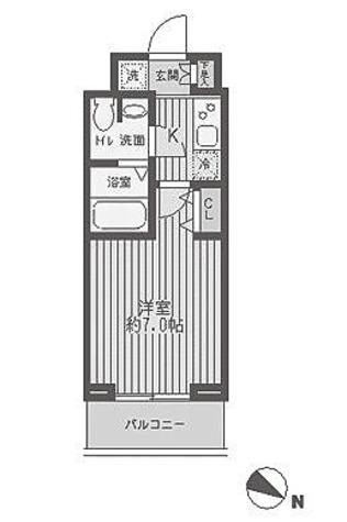 レジディア蒲田 / 1K(21.3㎡) 部屋画像1