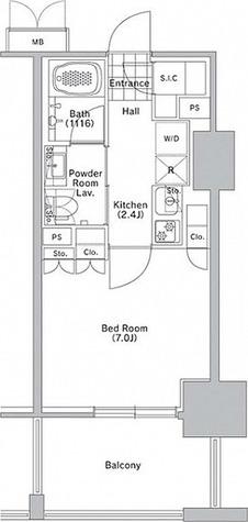 コンフォリア渋谷WEST / 2階 部屋画像1