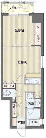 ライブコート泉 / Aタイプ(41.68㎡) 部屋画像1