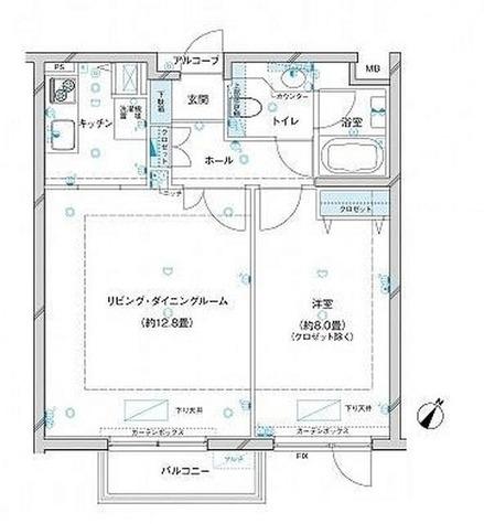 参宮橋マンション / 1LDK(52.68㎡) 部屋画像1