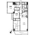 KDXレジデンス二子玉川 (旧ベルファース二子玉川園) / 3LDK(69.04㎡) 部屋画像1
