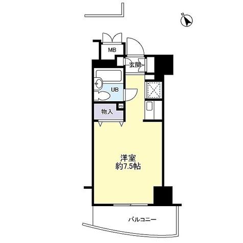 アルモニー御茶ノ水 / 1K(21.76㎡) 部屋画像1