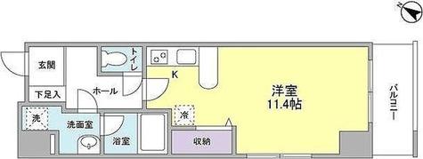 ソリッド大橋 / ワンルーム(31.59㎡) 部屋画像1