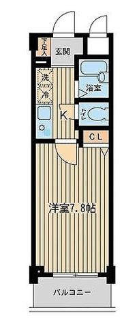 アーデン目黒不動前(旧パークハビオ目黒不動前) / 1K(22.31㎡) 部屋画像1