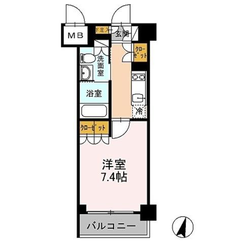 カスタリア武蔵小杉 / 1K(26.29㎡) 部屋画像1