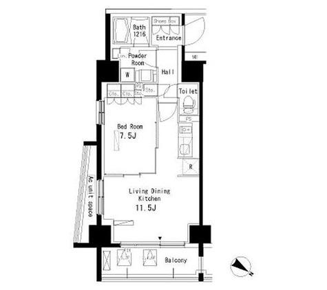 パークアクシス板橋本町弐番館 / 1LDK(43.9㎡) 部屋画像1