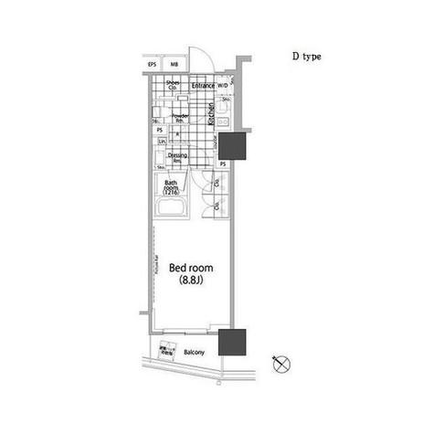 パークハビオ赤坂タワー / 710 部屋画像1