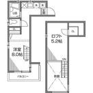 恵比寿 12分アパート / ワンルーム(17.98㎡) 部屋画像1