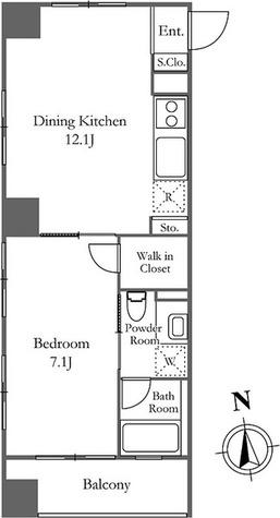 ベルファース西麻布 / 1LDK(41.13㎡) 部屋画像1