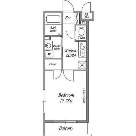 JM高輪レジデンス / 1K(27.12㎡) 部屋画像1