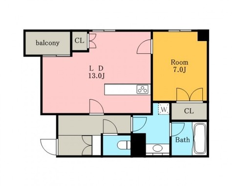 高輪26番館 / 5階 部屋画像1