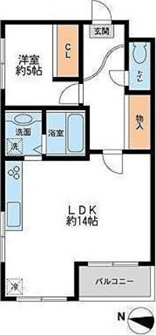 鉄飛坂マンション (大岡山1) / 1LDK(50.54㎡) 部屋画像1