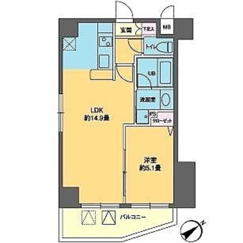 カスタリア北上野(旧ニューシティレジデンス上野タワー) / 1LDK(42.62㎡) 部屋画像1