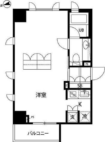 アクロス銀座 / 1K(40.27㎡) 部屋画像1