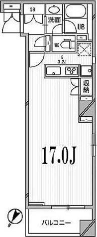 アパートメンツ目黒行人坂 / ワンルーム(45.57㎡) 部屋画像1