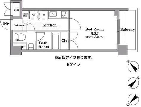 レジデンス西馬込 / Bタイプ(21.40㎡) 部屋画像1
