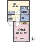 サウンドプルーフィング蓮根 / 1DK(24.77㎡) 部屋画像1