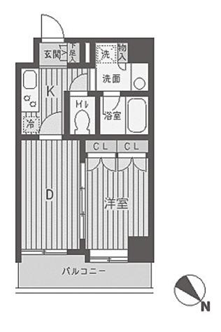 パークフラッツ渋谷代官山 / 1DK(30.33㎡) 部屋画像1