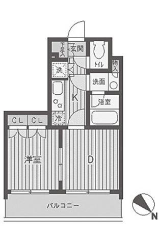 パークフラッツ渋谷代官山 / 1DK(30.1㎡) 部屋画像1