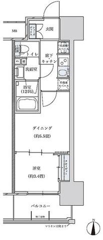 パークアクシス名古屋山王 / 1DK(29.12㎡) 部屋画像1
