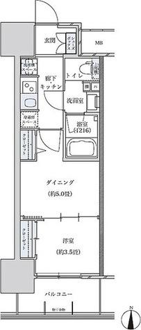 パークアクシス名古屋山王 / 1DK(29.17㎡) 部屋画像1