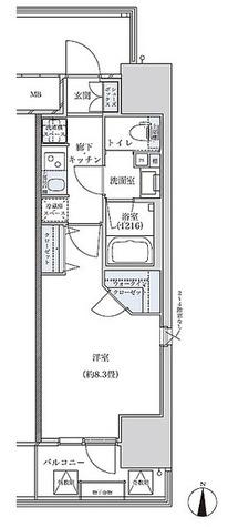 パークアクシス名古屋山王 / 1K(29.35㎡) 部屋画像1