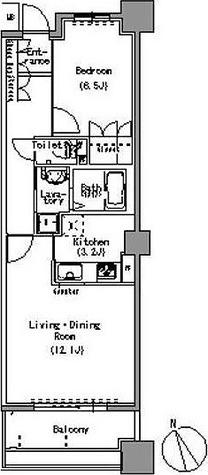 パークアクシス白壁 / 1LDK(53.22㎡) 部屋画像1