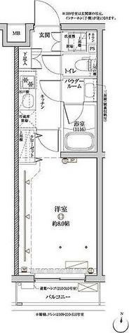 クレイシア目黒都立大学 / 1K(25.37㎡) 部屋画像1