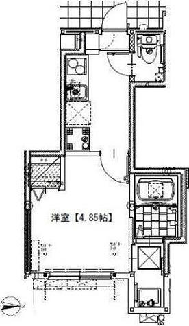 ソルナクレイシア祖師谷 / 1K(19.66㎡) 部屋画像1